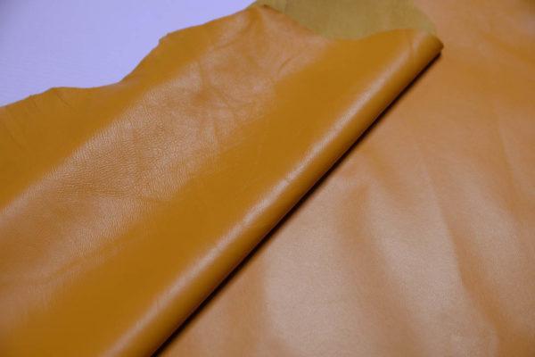 Кожа одёжная МРС, тёмно-жёлтая-Т115