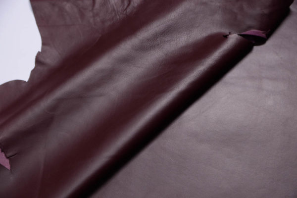 Кожа одёжная МРС, бордовая-Т114