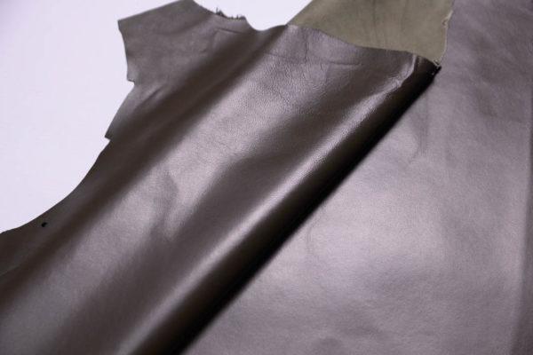 Кожа одёжная МРС, тёмно-оливковая-Т113