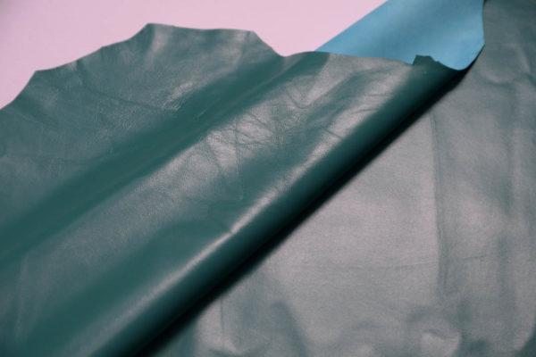 Кожа одёжная МРС, бирюзовая-Т112