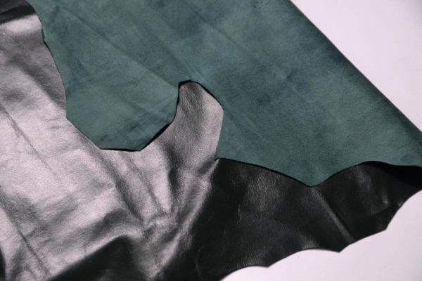 Кожа одёжная МРС, тёмно-зелёная -Т106