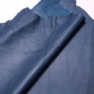 Кожа одёжная МРС, синяя -Т105
