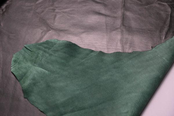 Кожа одёжная МРС, тёмно-зелёная -Т104