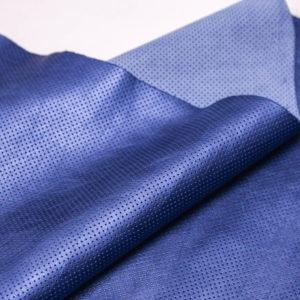 Кожа КРС с перфорацией, голубой металлик, 114 дм2.-AB1-24