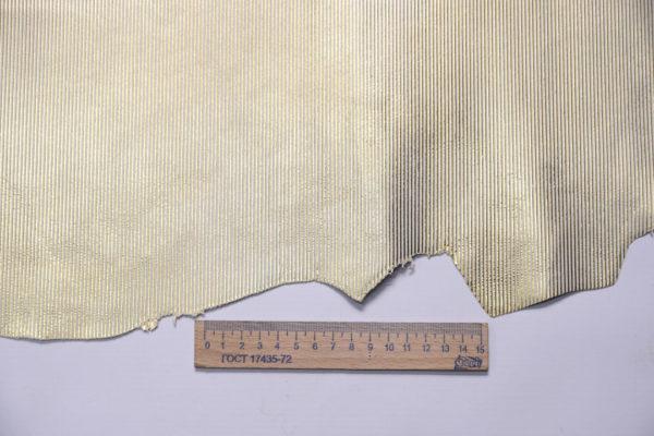 Велюр МРС с тиснением, золотистый, 28 дм2, Conceria Gaiera GIOVANNI S.p.A.-108182