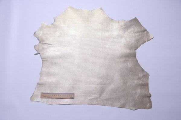 Велюр МРС с тиснением, серебристый, 24 дм2, Conceria Gaiera GIOVANNI S.p.A.-108185