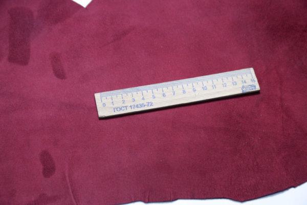 Стрейч велюр МРС, бордовый, 23 дм2.-108195