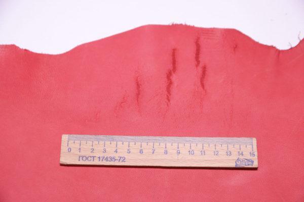 Кожа МРС (краст), коралловая, 36 дм2.-108197