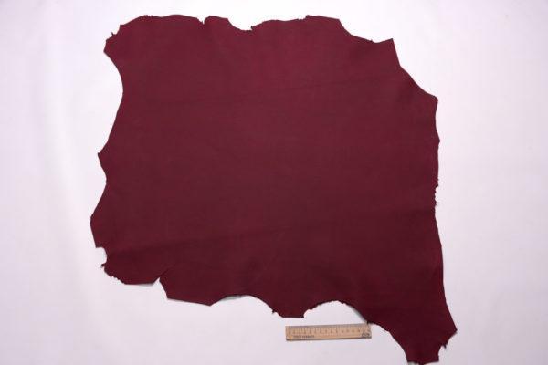 Кожа МРС (краст), бордовая, 42 дм2.-108202