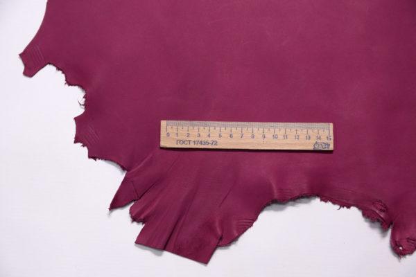 Кожа МРС, малиново-красная, 41 дм2.-108204