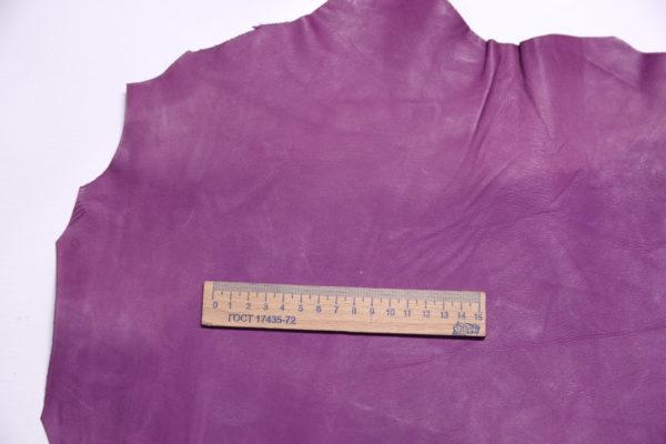 Кожа МРС (краст), светло-фиолетовая, 45 дм2.-108208