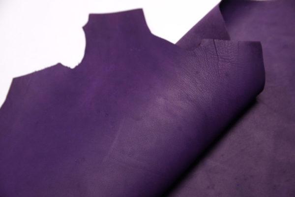 Кожа МРС (краст), фиолетовая, 36 дм2.-108221