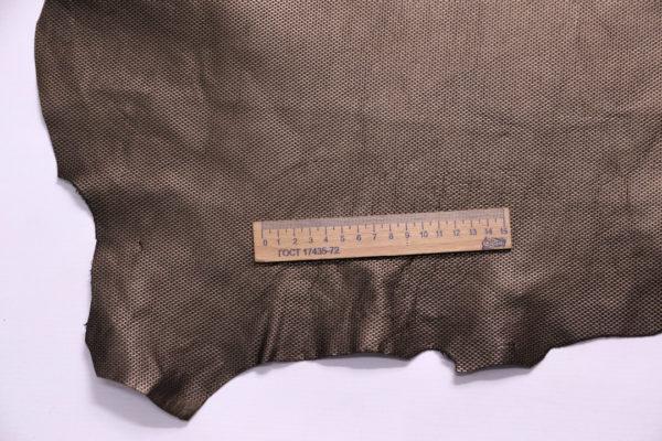 Кожа МРС с тиснением, капучино, металлик, 84 дм2.-108241