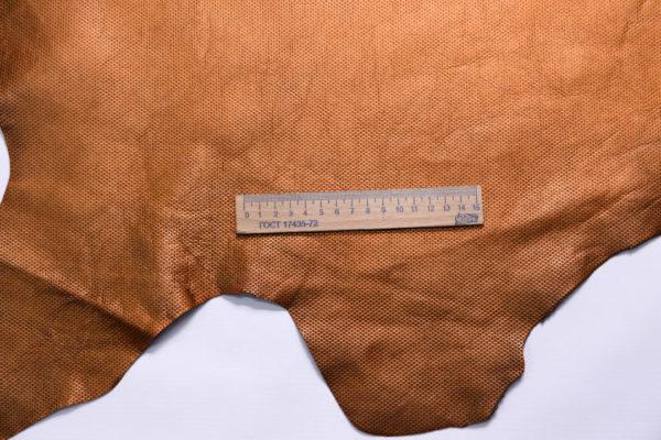 Кожа МРС с тиснением, бронзовый металлик, 79 дм2.-108242