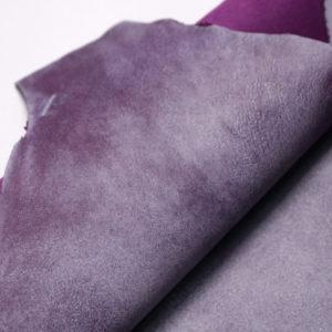 Кожа МРС, фиолетовая с разводами, 31 дм2.-108246