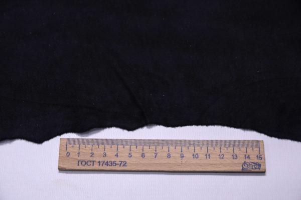 Замша одёжная МРС, чёрная, 19 дм2.-108256