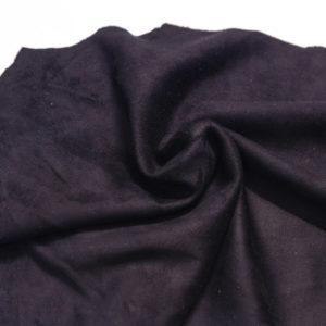 Замша одёжная МРС, чёрная, 20 дм2.-108257