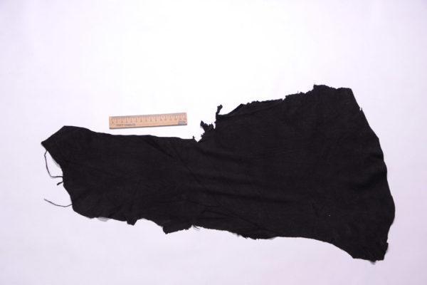 Замша одёжная МРС, чёрная, 15 дм2.-108259