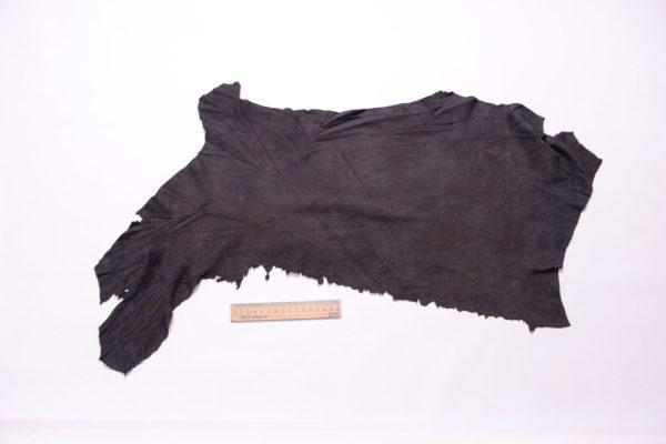 Замша одёжная МРС, чёрная, 21 дм2.-108260