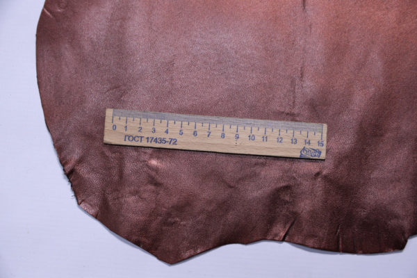 Кожподклад МРС, бордово-коричневый металлик, 22 дм2.-108266