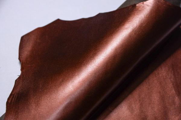 Кожподклад МРС, бордово-коричневый металлик, 20 дм2.-108267