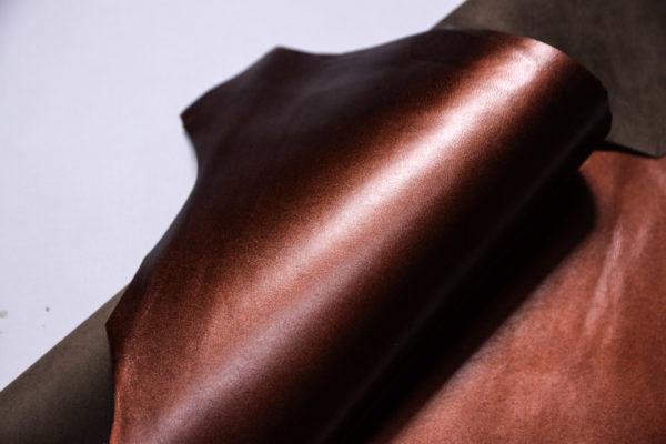 Кожподклад МРС, бордово-коричневый металлик, 21 дм2.-108268