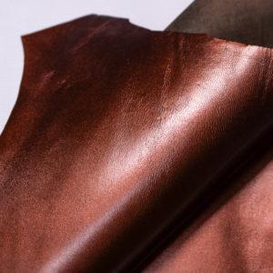 Кожподклад МРС, бордово-коричневый металлик, 25 дм2.-108269