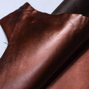 Кожподклад МРС, бордово-коричневый металлик, 21 дм2.-108270
