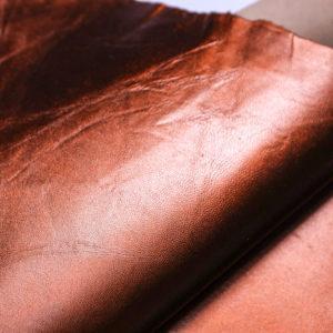 Кожподклад МРС, тёмно-рыжий металлик, 25 дм2.-108275
