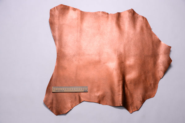 Кожподклад МРС, тёмно-рыжий металлик, 25 дм2.-108276