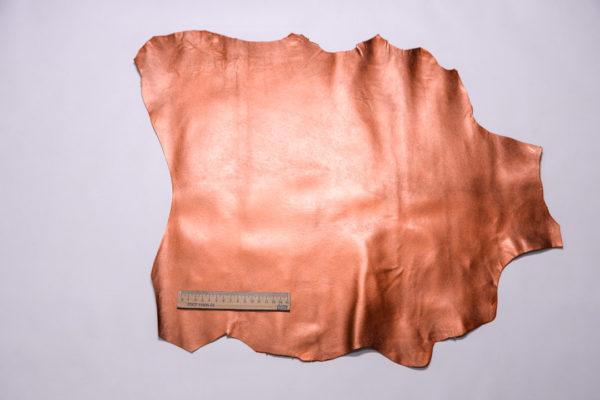 Кожподклад МРС, тёмно-рыжий металлик, 26 дм2.-108277
