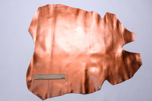 Кожподклад МРС, тёмно-рыжий металлик, 27 дм2.-108279