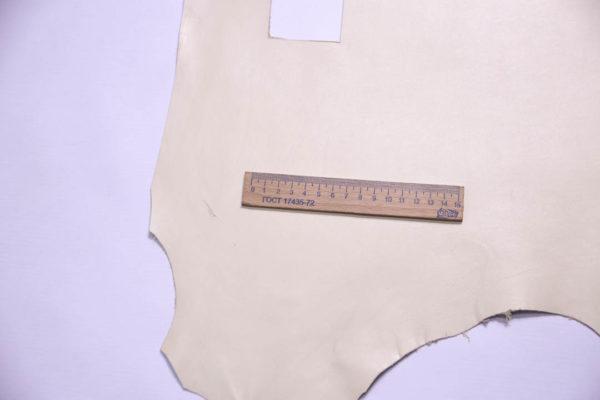 Кожа МРС, слоновой кости, 37 дм2.-108403