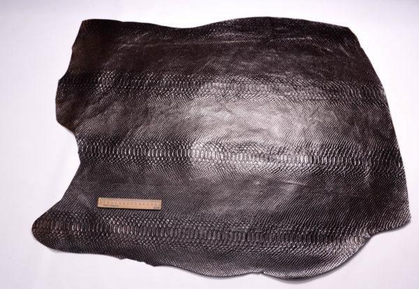 Кожа КРС с тиснением, тёмно-коричневая, 64 дм2.-108425