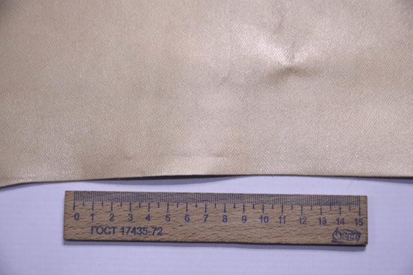 Кожа МРС с принтом, светлое золото, 47 дм2, Russo di Casandrino S.p.A.-108430