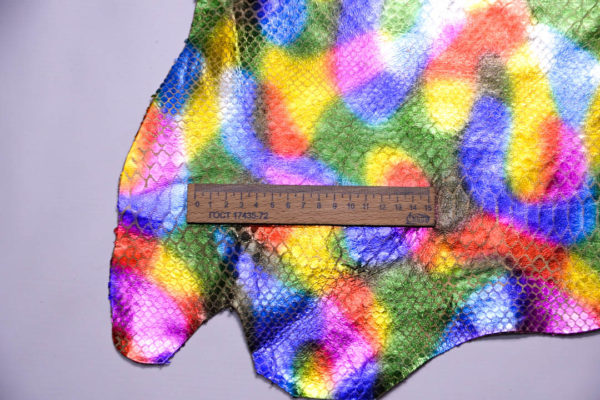Кожа МРС с принтом, мультицвет, 34 дм2.-108438