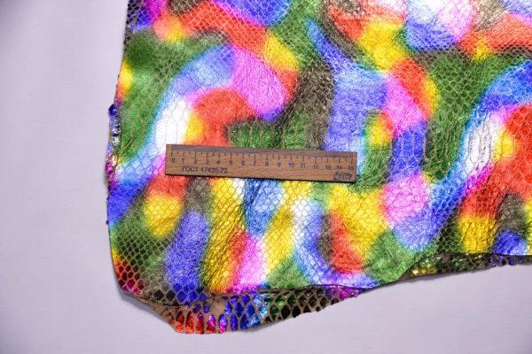 Кожа МРС с принтом, мультицвет, 38 дм2.-108439