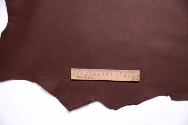 Кожа МРС, коричнево-бордовая, 44 дм2.-108448