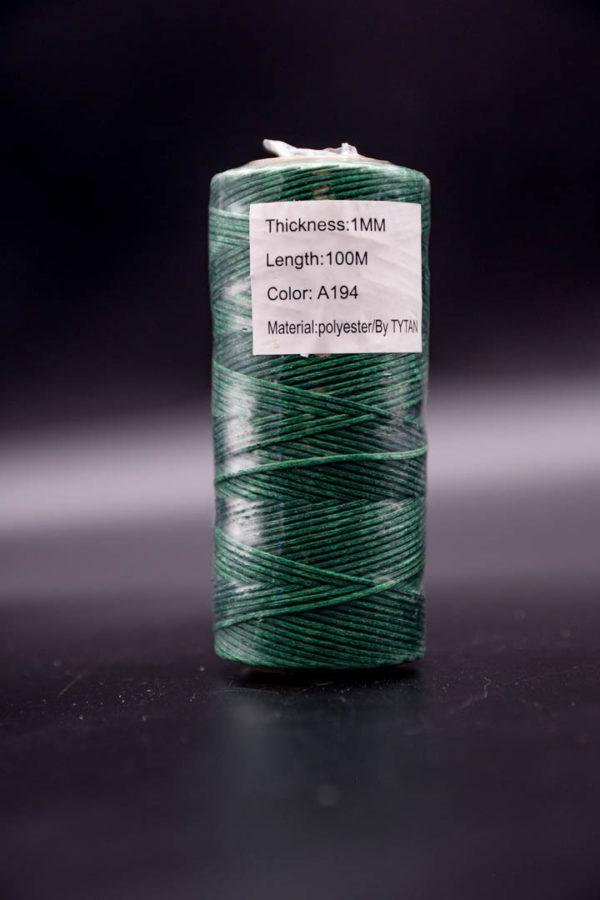 Нить мокасин вощенная, тёмно-зелёная (green A194)