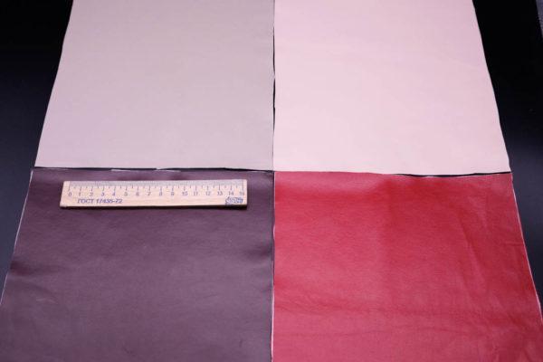 Набор из 4 кусочков бордовой, пудра, красной, капучино, А4-Набор 2-2