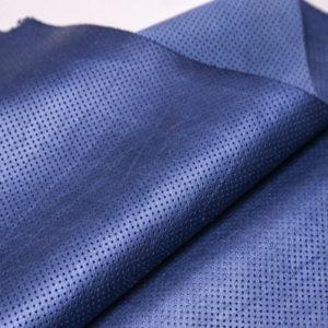 Кожа КРС с перфорацией, голубой металлик, 114 дм2.-AB1-25