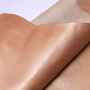 Кожа КРС, персиковый металлик, 65 дм2.-AB1-26