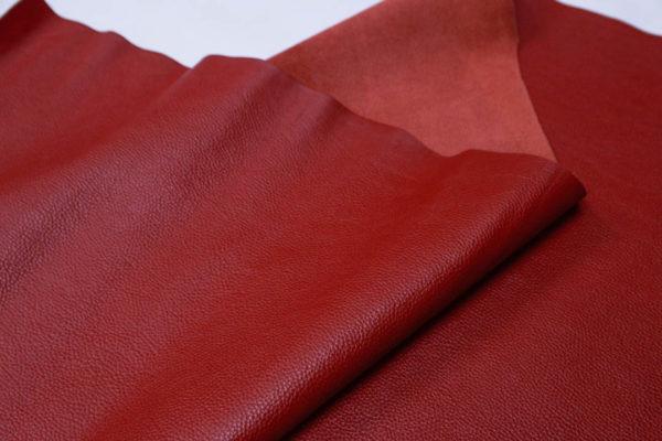Кожа КРС, флотар, красная, 189 дм2.-AB1-03