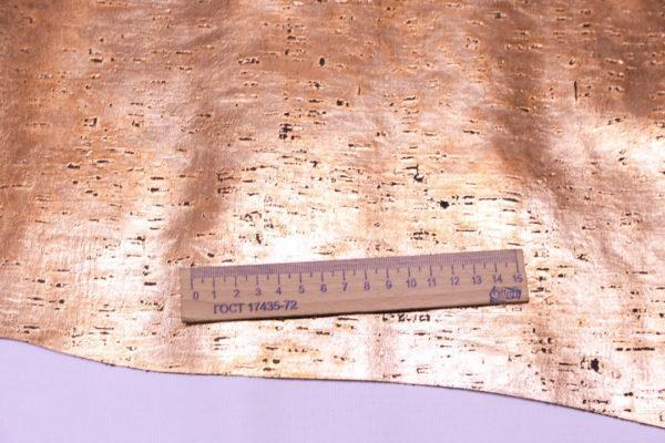 Кожа КРС с тиснением, тёмно-бронзовая, 119 дм2.-AB1-33