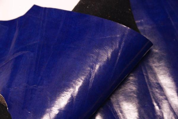 Кожа МРС, синяя, 19 дм2.-AB1-38