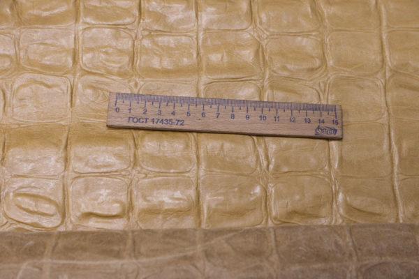 Кожа КРС с тиснением, песочная, 292 дм2.-AB1-52