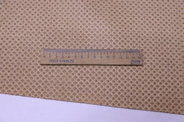 Кожа КРС с тиснением, бежевая, 191 дм2.-AB1-53