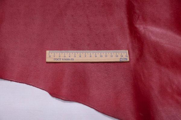 Кожа КРС, сафьяно (Saffiano), вишнёвая, 165 дм2.-AB1-07