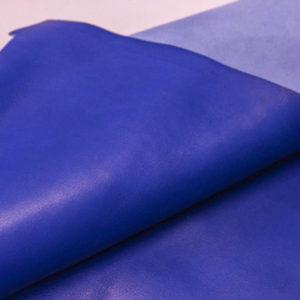 Кожа КРС, синяя, 104 дм2.-AB1-09
