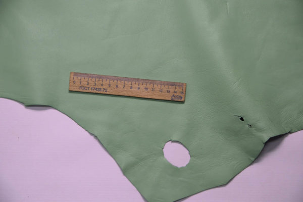 Кожа МРС, мятная, 12,75 фут2. (119 дм2.)- 200010